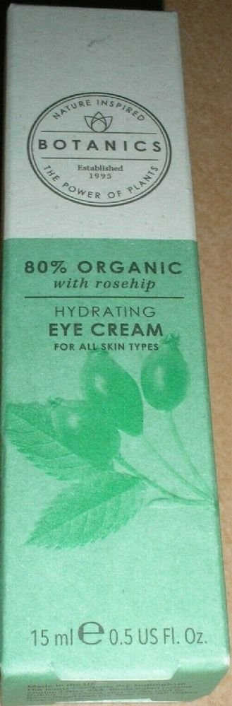 Botanics 80% Organic with rosehip Hydrating Eye Cream - 15ml
